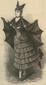 1887 French Bat Costume