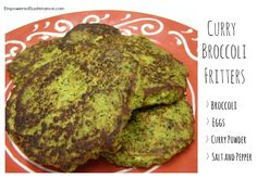 Easy, flavor-packed Paleo broccoli fritters with a punch of curry flavor. Perfect for any meal or snack.