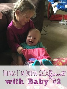 Each baby is different but sometimes we also parent differently. I'm doing many things different with baby #2. Find out if you did some of the same things.