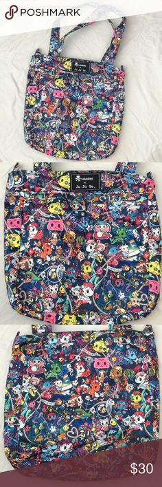 "JUJUBE • Tokidoki Sea Punk Be Light It's in a great used condition. I only wore it once. Its really really reaaaallly light bag. 10"" strap drop.  Easy to carry.  Comfy on your shoulder.Two insulated front pockets. Good for water bottles! Inside zipper pocket for little stuff. Main zipper closure.  Keeps your stuff in when tossed in the back of the car.  •Come from a clean/smoke free home •Bundle&Save-10%off 2+ items •Serious inquiries only and NO trade •Everything is FINAL SALE✨ Accessories…"
