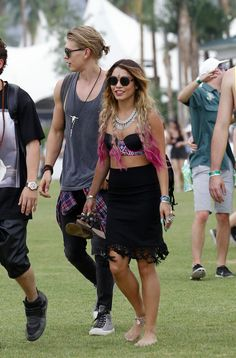 April 18, 2014 - Vanessa Hudgens and Austin Butler at Coachella Valley Music & Arts Festival Day 1, Weekend 2 in Indio