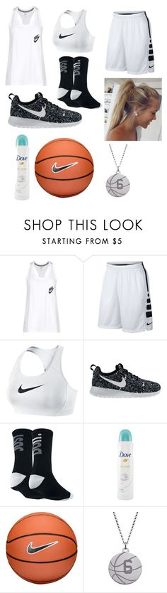 """""""My basketball practice uniform"""" by wishingiwas21 on Polyvore featuring NIKE and Dove"""
