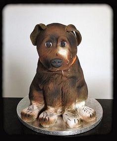 Pour les anniversaires d'enfants, je propose des gâteaux sculptés en forme de chien. Découvrez mes gâteaux d'anniversaire personnalisés.