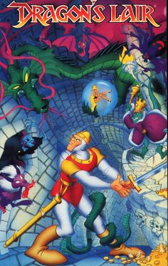 Dragon's Lair Home Video Game Box Art - So ahead of its time in so many ways.