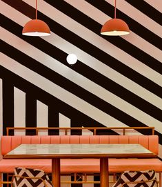 The Pink Zebra - pink with black and white stripes - interior design decor