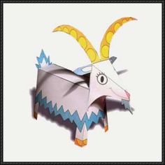 Christmas Goat Free Paper Toy Download - http://www.papercraftsquare.com/christmas-goat-free-paper-toy-download.html