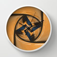 Abstract petals Wall Clock by Christine baessler - $30.00
