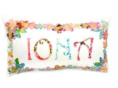 Handmade personalized pillowpersonalized baby gift by FreyStitch, £30.00