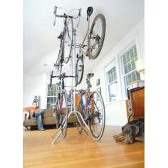 @Overstock - Featuring patent pending Easy-Adjust arms, this bike rack from Botticelli can accommodate any bike style. This bike rack also features rubber bumpers that protect your bike and floor, a 4-bike capacity and a free-standing design.http://www.overstock.com/Sports-Toys/Botticelli-Free-standing-4-capacity-Bike-Rack/6470403/product.html?CID=214117 $82.24