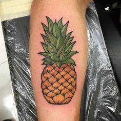 Beautiful pineapple tattoo
