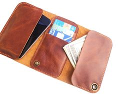 iPhone 4 /4s luxury leather case & wallet + wooden box - iPhone 4S cases - iPhone cases