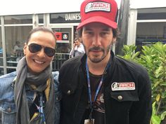 """Valeria and actor Keanu Reeves in Austin,Texas,shooting the new series of """"Dreams Road 2016""""!"""