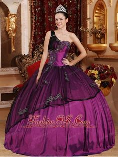 Discount Purple Quinceanera Dress One Shoulder Taffeta and Organza Beading and Appliques Ball Gown  www.fashionos.com  2013 quinceanera dress | appliques quinceanera dress | wholesale quinceanera dress | sweet sixteen quinceanera dress | cinderella quinceanera dress | quinceanera dress in salt lake city utah | purple quinceanera dress | one shoulder quinceanera dress | quinceanera dress purple | quinceanera dress with bead |