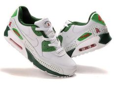new product f78c5 ffdda Special Nike Air Max 90 Green Red White Sports Shoes for Men FREE SHIPPING  BY DHL
