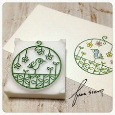 消しゴムはんこ : ふわふわ堂 color inside of intricate stamp Diy Stamps, Homemade Stamps, Stamp Printing, Printing On Fabric, Screen Printing, Make Your Own Stamp, Eraser Stamp, Stamp Carving, Stampinup