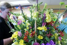 -The Power of Flowers - We had a very special visit this past spring - David Robichaud, from WBZ, Channel 4 visited our workshop and then followed us to a delivery!  (yep! then we were on TV!)