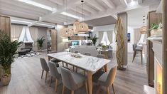 STUDIO SAGITAIR | Architettura - Interior Design - Render - Progetto Design Hotel, E Design, Interior Design, Dining Table, Rustic, Studio, Shop, Furniture, Home Decor