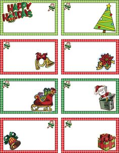 135 Best Free Printable Christmas Cards Tags Images Free