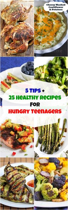 5 Tips and 25 Healthy Recipes for Hungry Teenagers © Jeanette's Healthy Living glutenfree #healthy #teenagers #tips