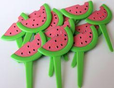 Watermelon Cupcake Topper Picks