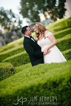Another great spot outside the Club to capture some great photos! Jim Kennedy Photographers - Jessica & Alex's Wedding at the Center Club Orange County.