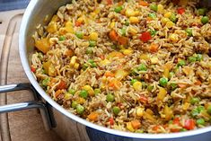 Rice Recipes, Mexican Food Recipes, Recipies, Ethnic Recipes, Food N, Food And Drink, Er 5, Pot Pasta, Breakfast Snacks