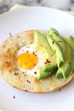 Avocado Egg Bagel - tinaschic.com