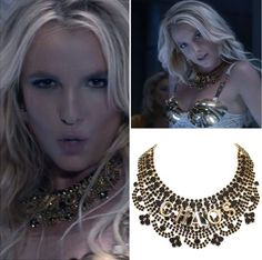 It's Britney bitch! Britney Spears wears our Chaos Doth Protest necklace from A/W 13 collection in her new music video