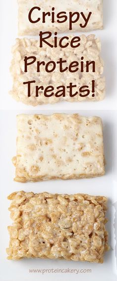 Crispy Rice Protein Treats! All-natural, high-protein, low-sugar.