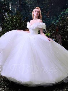 14b3d0955ed Cinderella in white Bridal Wedding Dresses
