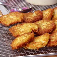 Watch as Anne's in factory potato pancake mode, making fab fried sides.