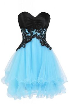 Lace and tulle prom dress