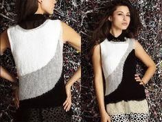 ▶ #10 Sheer Panel Top, Vogue Knitting Spring/Summer 2013 - YouTube