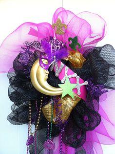 Krewe of Nyx mardi gras door hanger by GlitterBlingFun on Etsy, $65.00