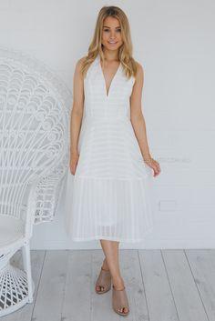 Iromani dress - white
