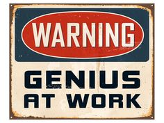 Warning Genius At Work 2 Pôsters na AllPosters.pt