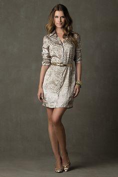 modaeelegancia: vestido  chemise estampado