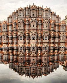 Hawa Mahal (Palace of the Winds), facade of the palace with so-called & . - Hawa Mahal (Palace of the Winds), facade of the palace with so-called & roofs& and - India Architecture, Ancient Architecture, Beautiful Architecture, Architecture Design, Gothic Architecture, Building Architecture, Beautiful World, Beautiful Places, Beautiful Scenery