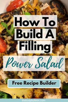 Have you ever wondered how to build a salad to make it taste great and fill you up? Create a healthy power salad recipe for easy weeknight dinners. Clean Eating Diet Plan, Healthy Eating Habits, Healthy Meal Prep, Clean Eating Recipes, Macro Nutrition, Diet And Nutrition, Easy Salad Recipes, Easy Healthy Recipes, Macro Food List