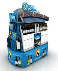 Australian Open pallet display stand for Jacobs Creek / Pernod Ricard Australia.  This display design was plagiarized from DG Design Group, www.coroflot.com/dgdesigngroup