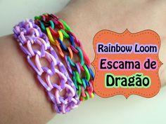 Rainbow Loom - Pulseira Escama de Dragão