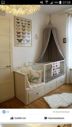 mäuschens neues zimmer new room The big bed was already there and for an additional cot is in the room no place. So the solution had to be . The post mice new room appeared first on baby room ideas. Girls Bedroom, Baby Bedroom, Baby Boy Rooms, Nursery Room, Girl Room, Child's Room, Ikea Hemnes Daybed, Hemnes Bed, Ikea Baby Room