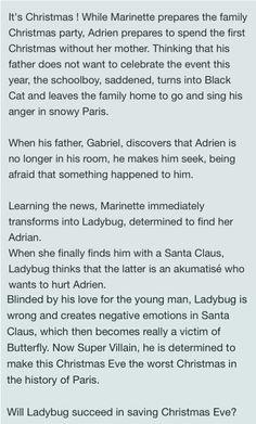 Synopsis for the Christmas special