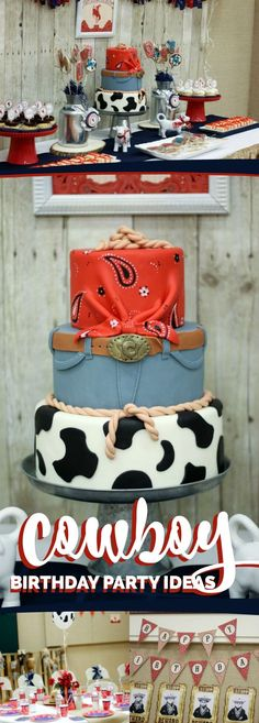 Cowboy Themed Western Birthday Party Ideas