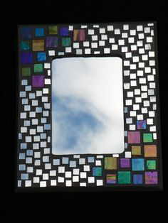 Mosaic Mirror by InspirationsByKathyW on Etsy, $40.00