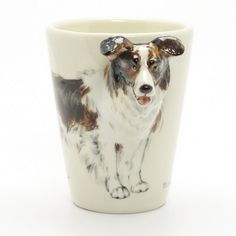 www.muddymood.com Original hand sculpt and hand paint   Border Collie Ceramic Mug Dog Lover.