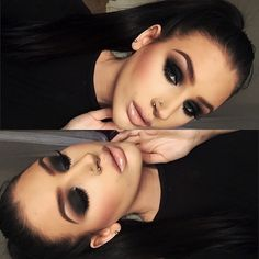 """Smokey eye and nude lips are always a good choice @emmacervin #anastasiabeverlyhills #AnastasiaBrows"""