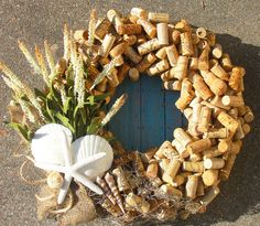 Seaside wine - Scrapbook.com We would have to drink A LOT of wine to finish this  wreath!!!