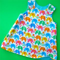 The Perfect A Line Dress for Baby Reversible Dress Pattern 0-24 months by Tie Dye Diva Patterns