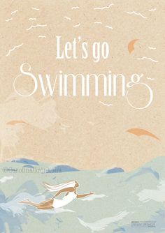 Let's Go Swimming Illustration Print 6x8 by Carolina Grönholm
